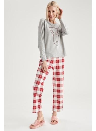 Defacto –Fit Pijama Takım Kırmızı